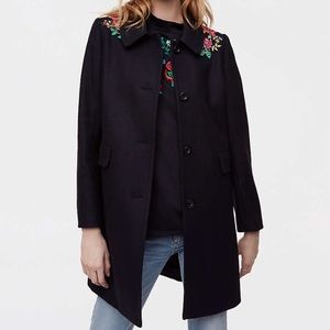 *Free shipping*  AT LOFT Floral Embroidered LP NWT
